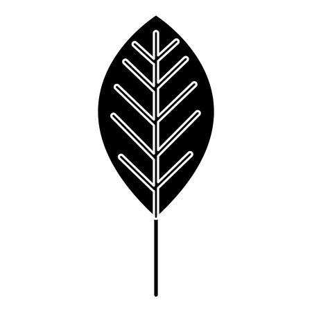 leaf  plant ecology icon vector illustration design Illustration