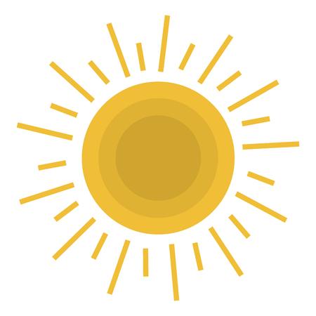 夏の太陽の孤立したアイコンベクトルイラストデザイン