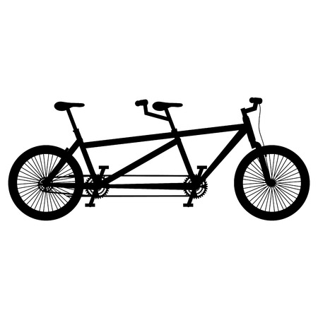 bicycle tandem isolated icon vector illustration design
