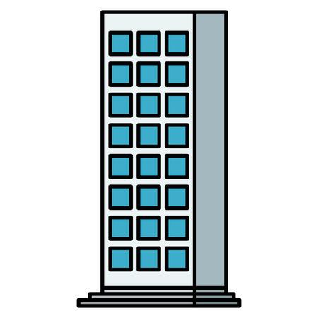 Building facade city icon  illustration design