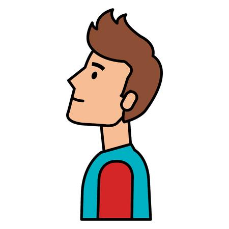 Young man avatar character  illustration design 向量圖像