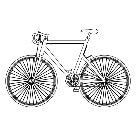 Bicycle isolated icon illustration design