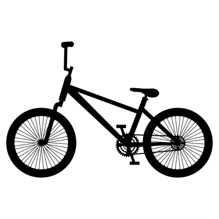 Bicycle isolated icon silhouette illustration design