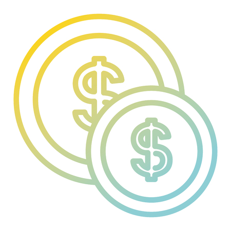 coin money isolated icon vector illustration design Banque d'images - 97805314