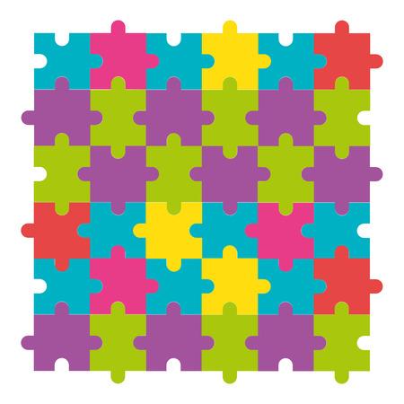 puzzle game pieces pattern vector illustration design 일러스트