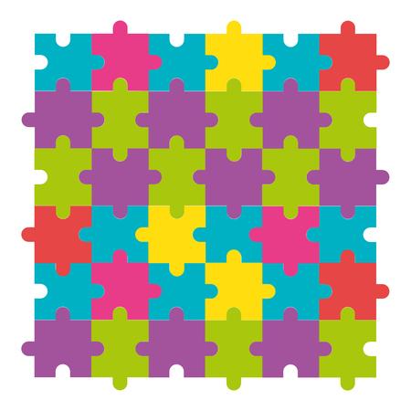 Puzzle game pieces pattern vector illustration design