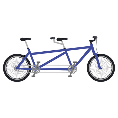 Bicycle tandem isolated icon vector illustration design Vetores