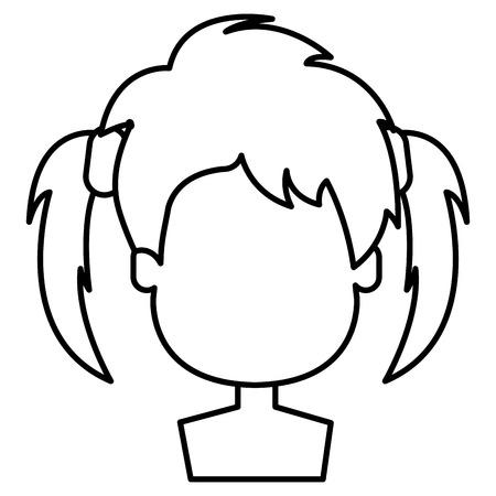 happy little girl shirtless character vector illustration design