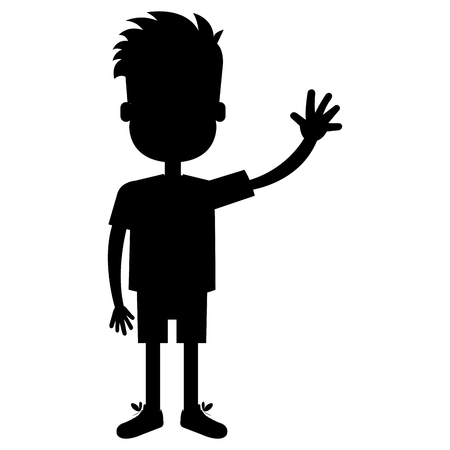 happy little boy character vector illustration design