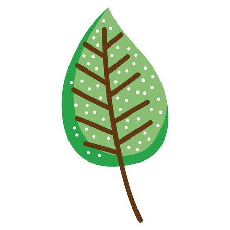 Leaves plant ecology icon vector illustration design.