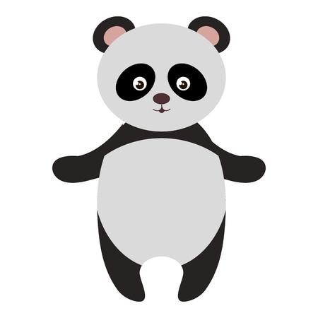 Cute and tender bear panda vector illustration design.