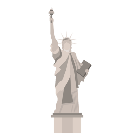 liberty statue monument icon vector illustration design Çizim