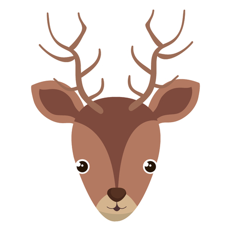 cute and tender reindeer head vector illustration design  イラスト・ベクター素材