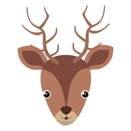 cute and tender reindeer head vector illustration design Illustration