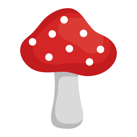 cute fungus isolated icon vector illustration design