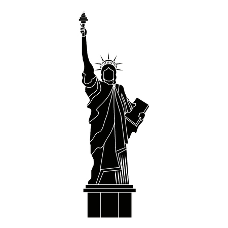 liberty statue monument icon vector illustration design Stok Fotoğraf - 97541610