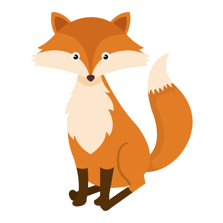 cute and tender fox vector illustration design