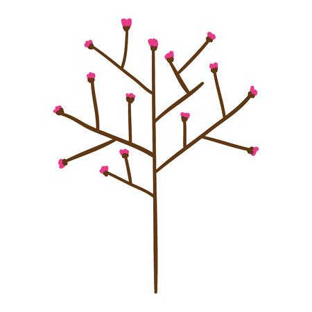 tree branch with seeds vector illustration design Illustration
