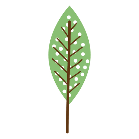 leafs plant ecology icon vector illustration design