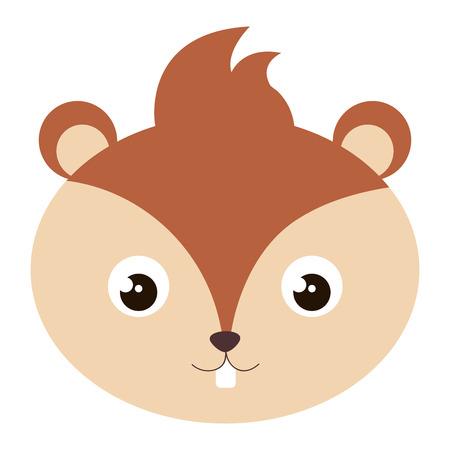 cute and tender chipmunk head vector illustration design Illustration