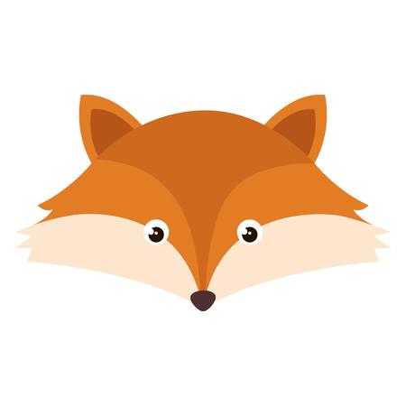 cute and tender fox head vector illustration design