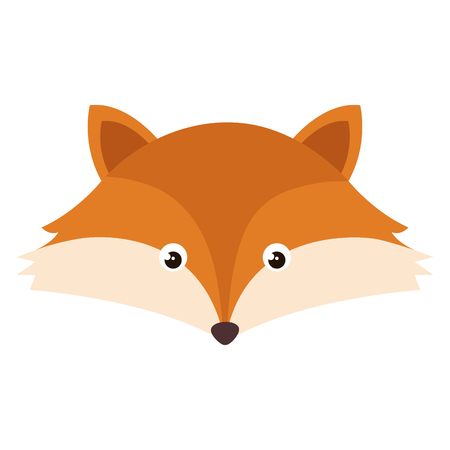 cute and tender fox head vector illustration design