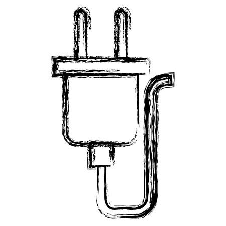 progettazione dell'illustrazione di vettore di energia del connettore del cavo del cavo Vettoriali