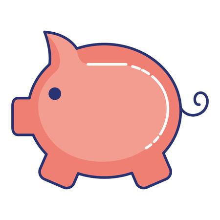 piggy savings isolated icon vector illustration design Standard-Bild - 97537761