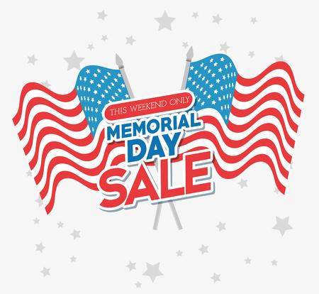 herdenkingsdag verkoop poster vector illustratie ontwerp Vector Illustratie