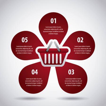 infographic  big sale marketing diagram shape petals vector illustration