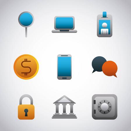 infographic  set icons banking financial business vector illustration Foto de archivo - 97542181