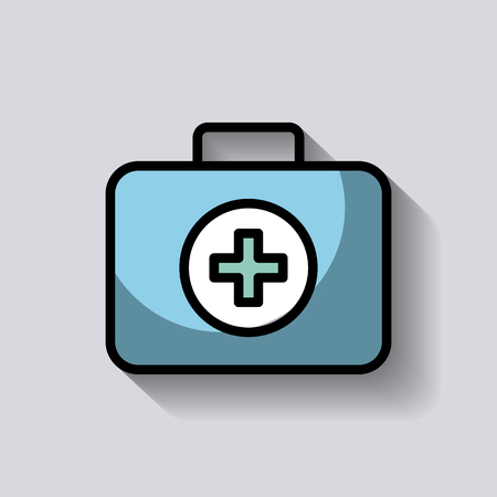 medical kit first aid emergency care image vector illustration