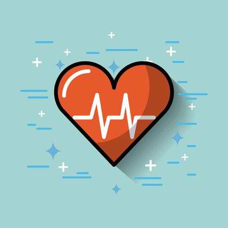 heart rate cardoligy medicine image vector illustration Banque d'images - 97612515