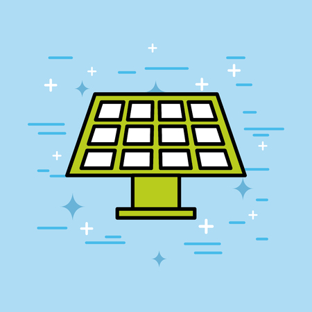 energy solar panel sustainable innovation vector illustration