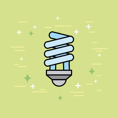 energy bulb light ecology icon vector illustration