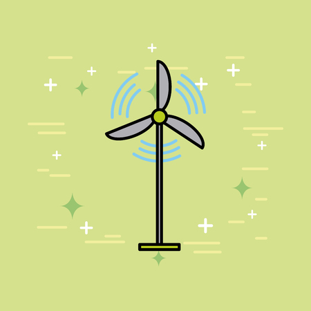 turbine wind energy renewable environment vector illustration