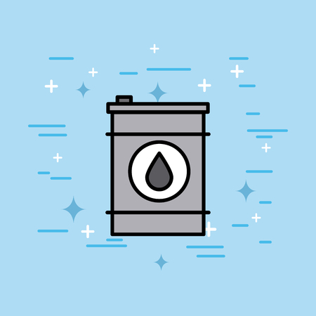 ecology barrel oil gas fuel vector illustration