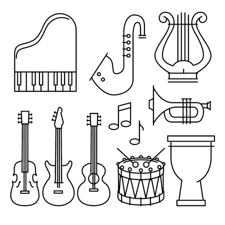 tropical instruments set icons vector illustration design Ilustração
