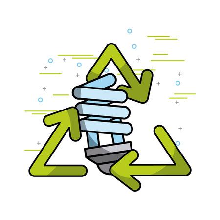 Recycle ecology bulb light environment vector illustration. Standard-Bild - 97641166