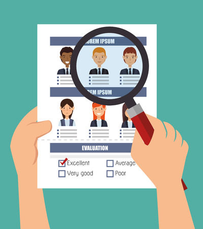 search human resources recruit design isolated vector illustration Illustration