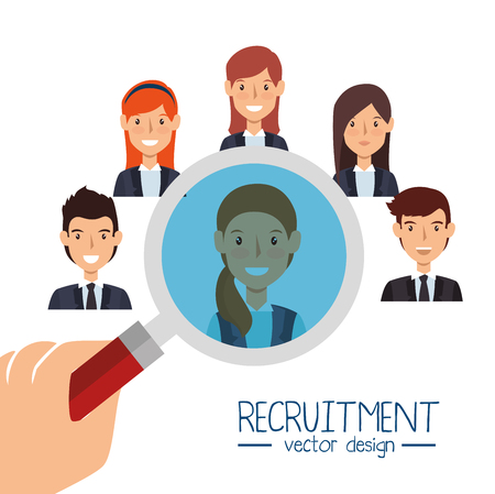 search human resources recruit design isolated vector illustration eps 10