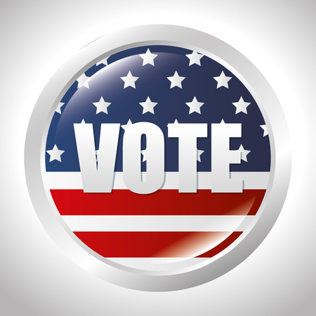 cartoon elections vote flag usa design vector illustration Illustration
