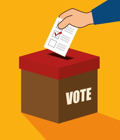 cartoon verkiezingen stemmen ontwerp vector illustratie Stock Illustratie