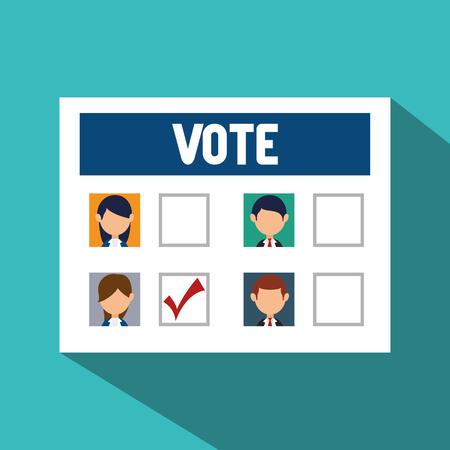 cartoon elections vote design vector illustration eps 10