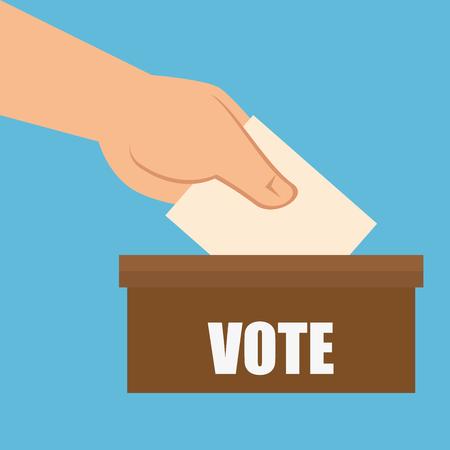 Karikaturwahl-Abstimmungsdesign-Vektorillustration