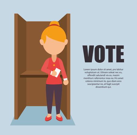 cartoon elections vote design vector illustration. Banque d'images - 97653979