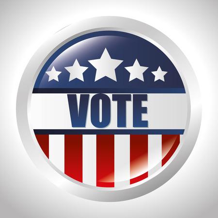 cartoon elections vote flag usa design vector illustration.