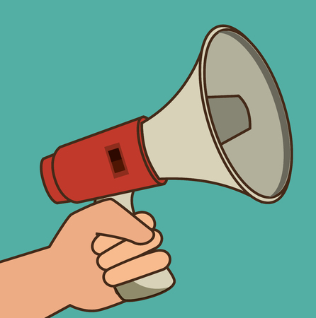 Cartoon illustration of megaphone Vettoriali