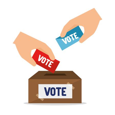 cartoon verkiezingen stemmen ontwerp vector illustratie. Vector Illustratie