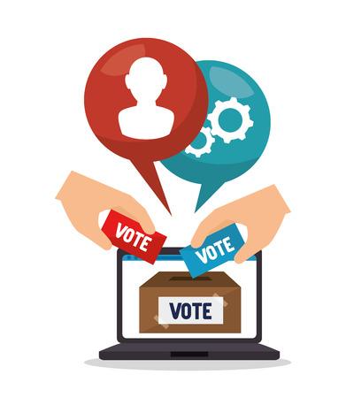 Cartoon elections vote design vector illustration